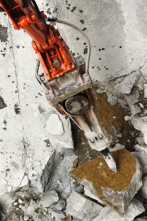 presslufthammer: gro�e Presslufthammer Baumaschine zerst�ren Fahrbahn einer Stadtstra�e Lizenzfreie Bilder