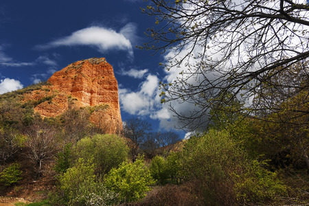 gold mine: roman gold mine of Las medulas in Spain