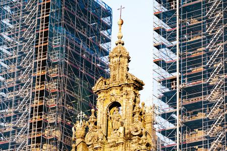 compostela: restoration of Cathedral of Santiago de Compostela, Galicia, Spain