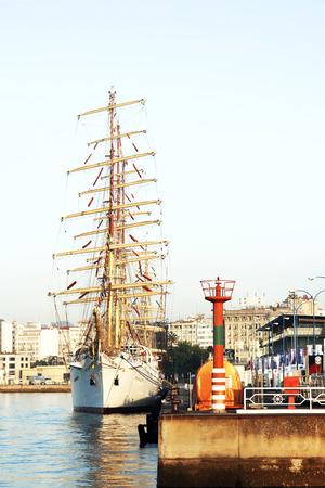 Tall Ships Races August 8, 2012 in Coruna, Spain; Pogoria sail training ship