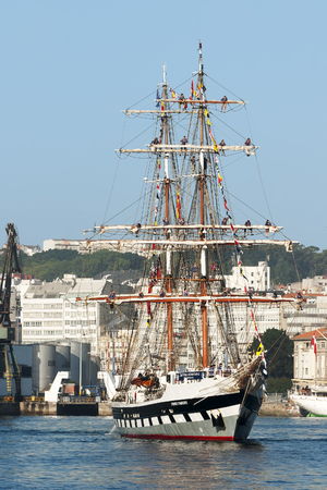 Tall Ships Races August 10, 2012 in Coruna, Spain; Stavros Niarchos ship, United Kingdom