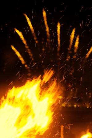 fiestas: Bonfires on the night of Saint  John, Hogueras de San Juan,  Festivity of International Tourist Interest ,Coruna , Spain