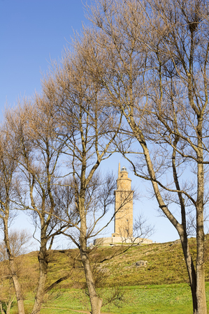 hercules: Hercules tower, Tower of Hercules, Roman lighthouse, Stock Photo