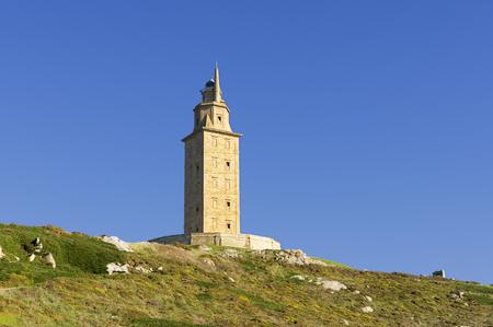 hercules: Hercules tower, Tower of Hercules, Roman lighthouse Stock Photo