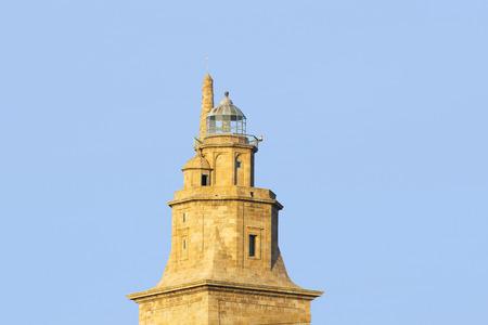 rehabilitated: Hercules tower, Tower of Hercules, Roman lighthouse Stock Photo