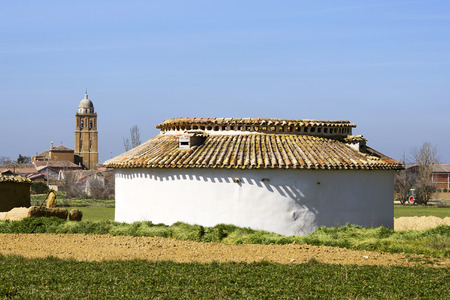 squire: exterior of the traditional pigeon house or  dovecote  in Palencia, Spain
