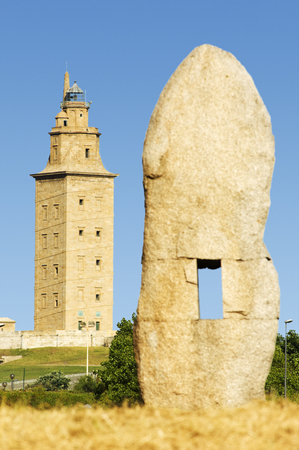 hercules: Hercules tower, Torre de Hercules, roman liighthouse , UNESCO world heritage