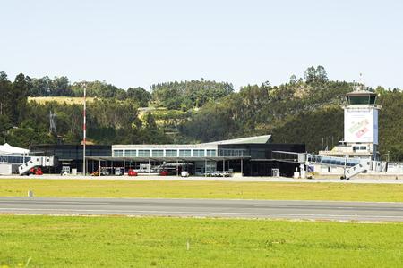 Coruna , Spain - August 2, 2016 : Air Europa plane at the airport of Alvedro, Coruna, Spain