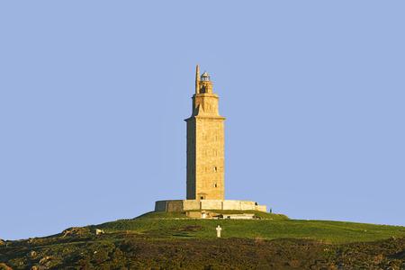 rehabilitated: Hercules tower, Torre de Hercules, roman liighthouse , UNESCO world heritage, Coruna, Spain