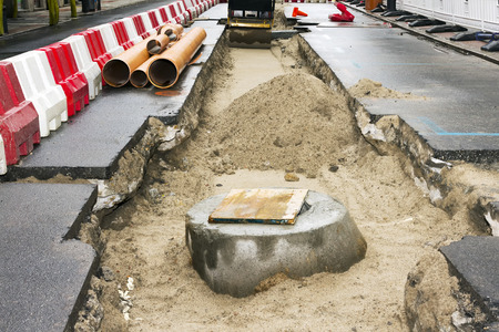 sewer line repair and restore  in  city street