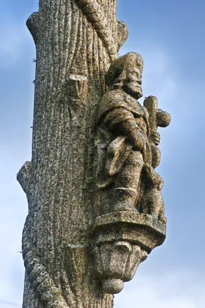 St James sculpture in a village of Orense, Galicia, Spain , way of Santiago of Compostela