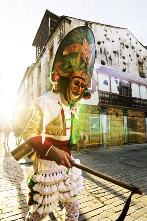 cigarron in Verin carnival, Orense , Spain
