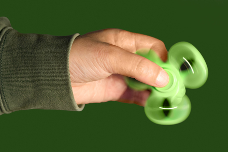 fidget spinners  toy to relieve stress Stock Photo