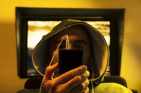 Informatics hacker resting Stock Photo
