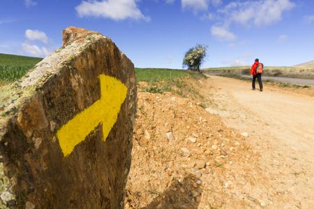 Way of St James, Camino de Santiago, Compostela, arriving at Astorga, Spain