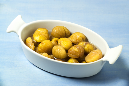chestnuts in sugar syrup Stock Photo
