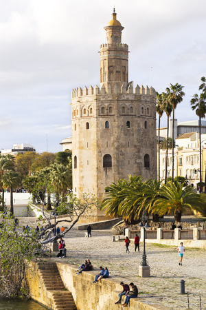 Seville, Golden tower, Andalusia, Spain