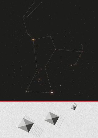 Orion and the Giza pyramids photo