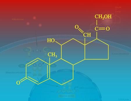 hormone: Aldosterone molecular structure Stock Photo