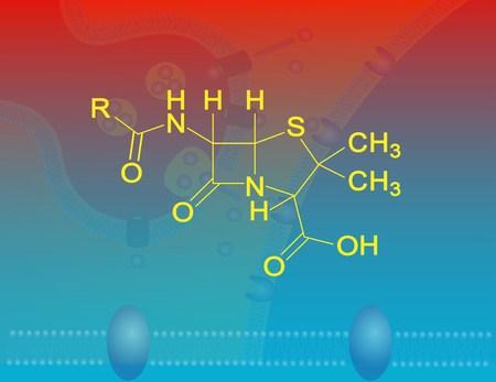 penicillin: Penicillin molecular structure