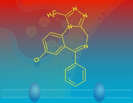 benzodiazepine: Alprazolam molecular structure