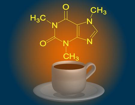 caffeine: Caffeine molecular structure