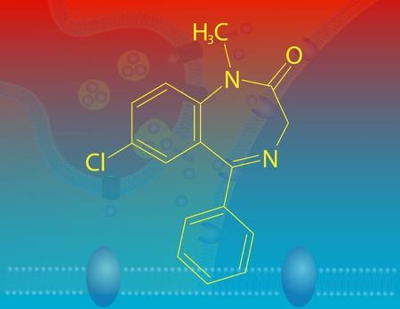 benzodiazepine: Diazepam molecular structure