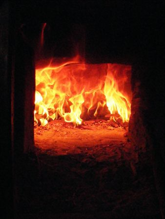 fire, oven, furnace Stock Photo