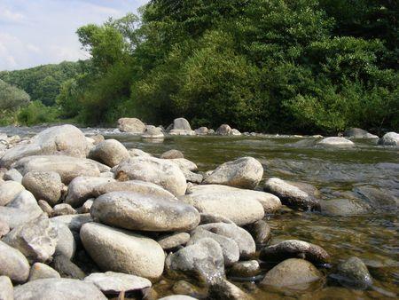 winding, shallow creek landscape