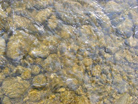 gravel underwater