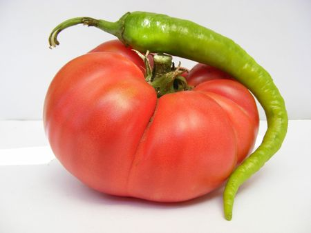 hot pepper with tomatoe