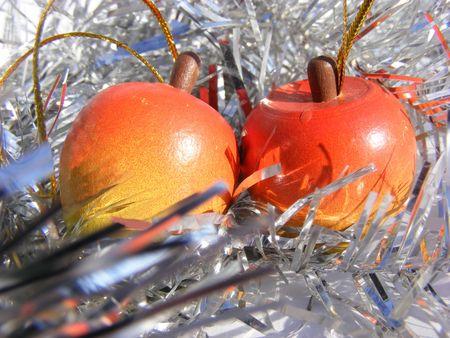wooden apple, christmas decoration