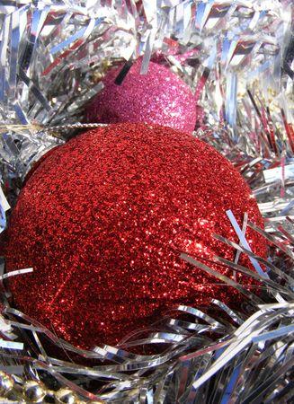 christmas globe, decoration on shiny background