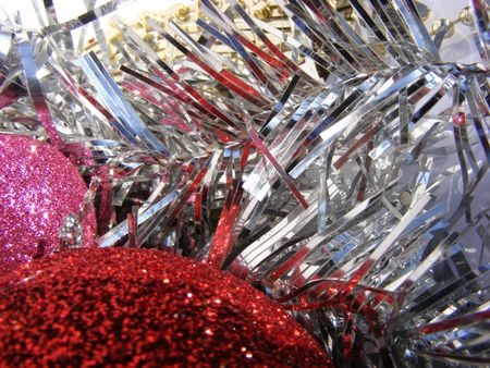 christmas globe, decoration on shiny background-abstract Stock Photo - 6080259
