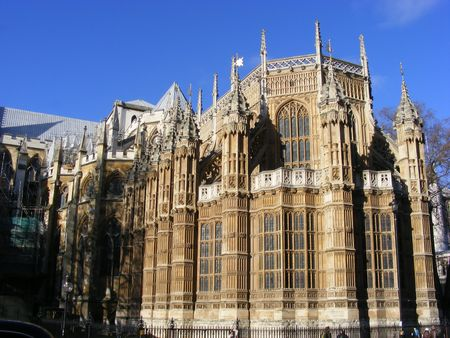 detail of a gothic church (Westminster Abby) Stock Photo