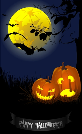 halloween greeting Vector
