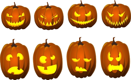 halloween jack o lamps Vector