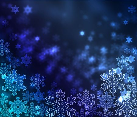 Abstract blue background whit snowflakes Stock Photo - 8246360