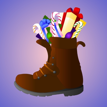 boots with sweets Stock Vector - 8381134