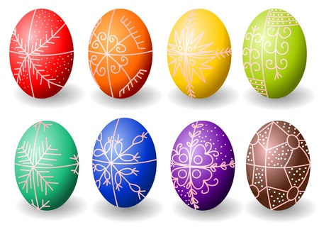 Painted easter eggs whit hungarian motives Stock Vector - 9294812