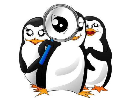 penguin search-team Stock Photo - 9842807