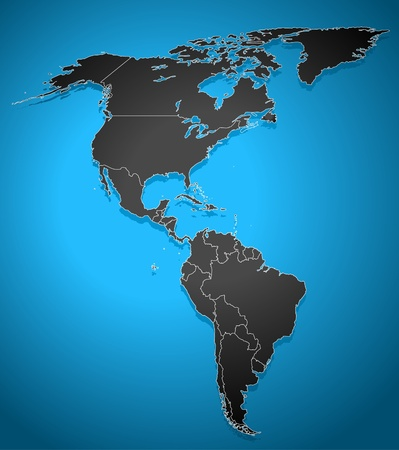 america del sur: Mapa político de América Vectores