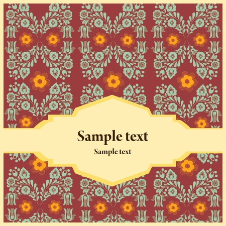 Greeting card whit floral background Stock Vector - 10756337