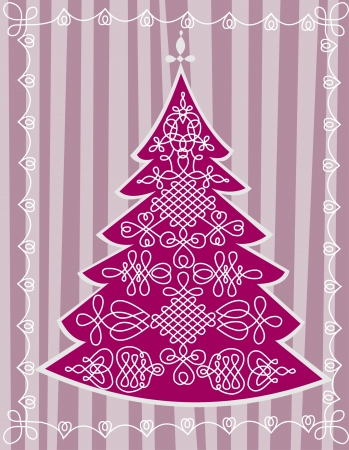 Decorative Christmas tree Stock Vector - 16449966