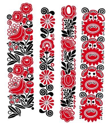 Tradicionales motivos florales húngaros