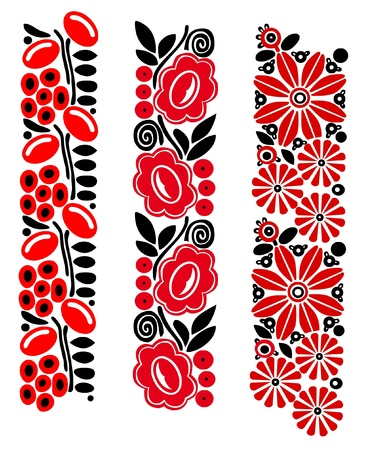 pattern whit decorative flowers, Hungarian motive Stock Vector - 16520678
