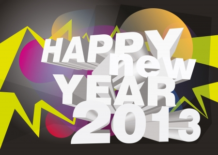 Happy new year 2013 Stock Vector - 16674876