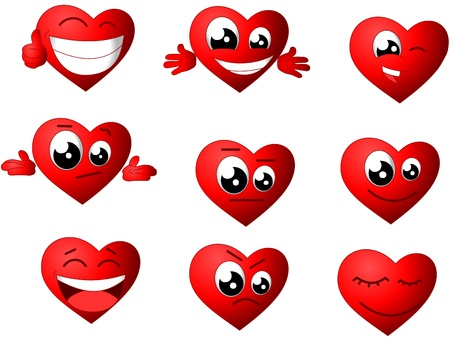 hearth emoticon Stock Vector - 17807317