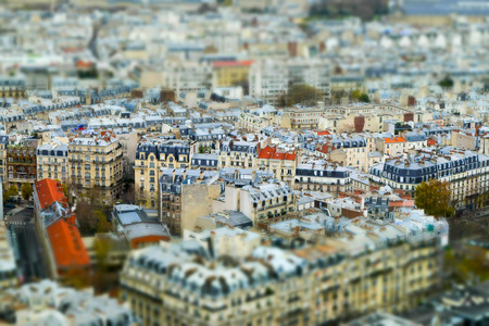 View of Paris, France with miniature effect