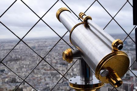 Telescope on the Eiffel tower, Paris France